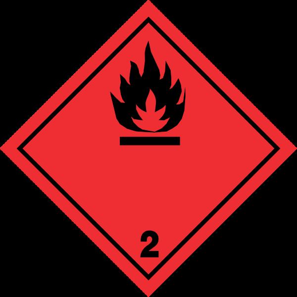 Fareklasse 2.1 brandfarlig gas