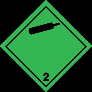 Fareseddel klasse 2.2, gasser under tryk