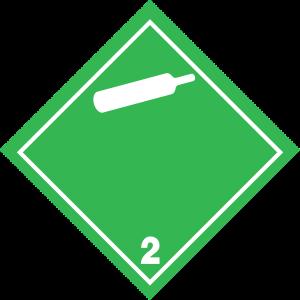 Fareseddel klasse 2.2 - ikke-giftige, ikke-brandfarlige gasser