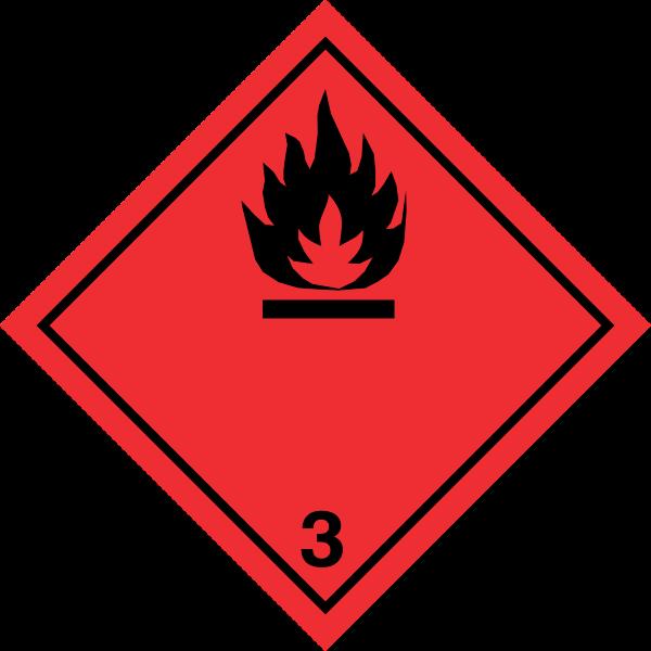 Fareseddel klasse 3 - brandfarlige væsker