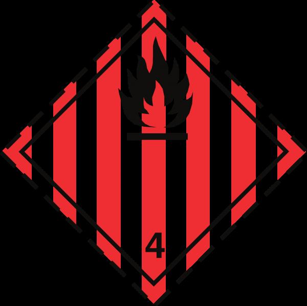 Fareklasse 4.1 brandfarligt fast stof