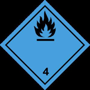Fareseddel 4.3 stoffer, der udvikler brandfarlige gasser ved kontakt med vand