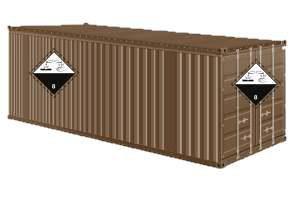 Bil/container (25 x 25 cm)
