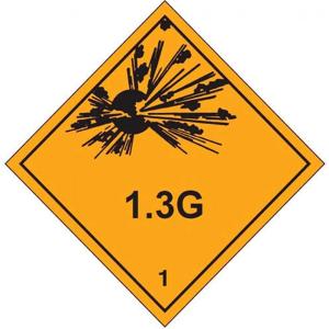 ADR Klasse 1.3 G til biler typisk med fyrværkeri