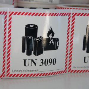 løse ikke genopladelige lithiummetal batterier etiket