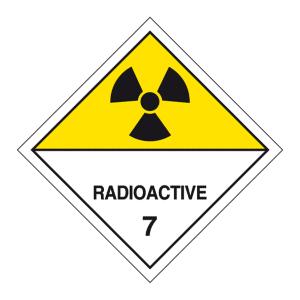 Radioaktiv 7D fareseddel, magnet